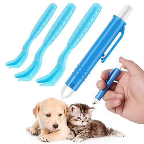 HezzLuv Zeckenentferner Set Für Hunde Katze, 3er Set Zeckenhebel, 1 Zeckenhaken, zeckenmittel, Zeckenentfernung In Sekunden, der Sichere Zeckenschutz Für Kinder & Haustiere, Hund, Katze Und Mensch