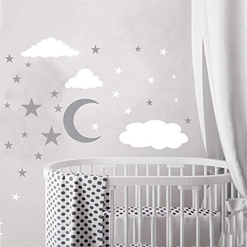 KINDPMA Estrellas Pegatinas de Pared 3 piezas Estrellas Adhesivos Decorativo Pegatina de Estrella para Pared Decoración para Dormitorio Sala de Estar Bebés Niños Tamaño:28 x 28cm