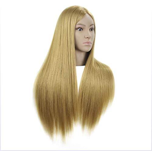 YJF Vrais Cheveux Styling Head Mannequin De Formation Head Tête De Femme Modèle D'enseignement Head Barber Shop Tressage Cheveux Dyeing Apprentissage Dummy Head