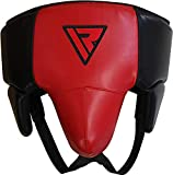 RDX Groin Protector for Boxing, Muay Thai, Kickboxing and MMA Fighting, SATRA Approved Abdominal Guard for Martial Arts, Maya Hide Leather Jockstrap Abdo Gear for Taekwondo, Sparring and Grappling
