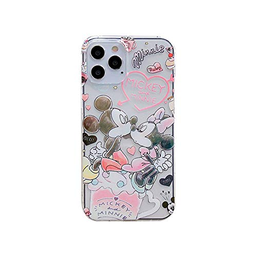 Max-ABC Compatible with iPhone 12 Pro Max 6.7 inch Girls Boys Women Kids Minnie Mickey Mouse Kiss Love Case Cute Cartoon Ultra Thin Slim Gel Rubber Bumper Soft TPU Protective Case Cover (Pink)