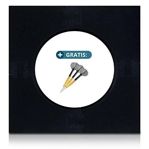 ProDarts Dart Surround für alle Marken-Dartscheiben 44,95cm – Dart Auffang-Ring in Schwarz – hochwertige stabile Umrandung – Wandschutz für das Dartboard ohne Zusatzbefestigung – professionelle Optik