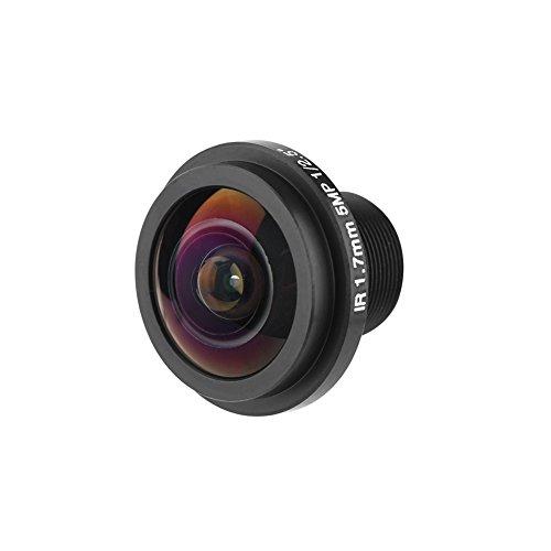Cameralens, 5 MP Fisheye CCTV cameralens, M12 x 0,5 185 ° groothoek, 1,7 mm veiligheidslens, brandpuntsafstand voor visoogcamera.