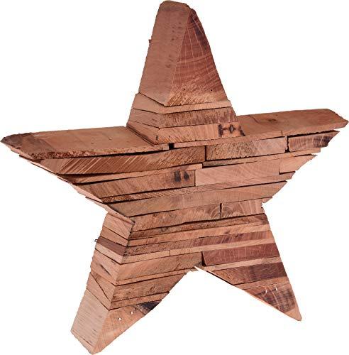 matrasa Stern aus Holz Stücken - Holzstern Dekostern Weihnachtsdekoration Deko Weihnachten 25 cm