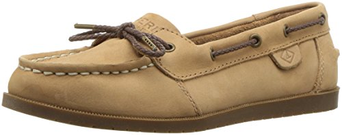 Sperry Girls' Authentic Original 1 Eye Boat Shoe, Sahara, 4 Medium US Big Kid