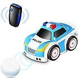 Tyhbelle Coche teledirigido de policía con mando a distancia de 2,4 GHz, modo de seguimiento, camino autónomo, modo de prevención de obstáculos, 4 modos de juego, para niños y niñas