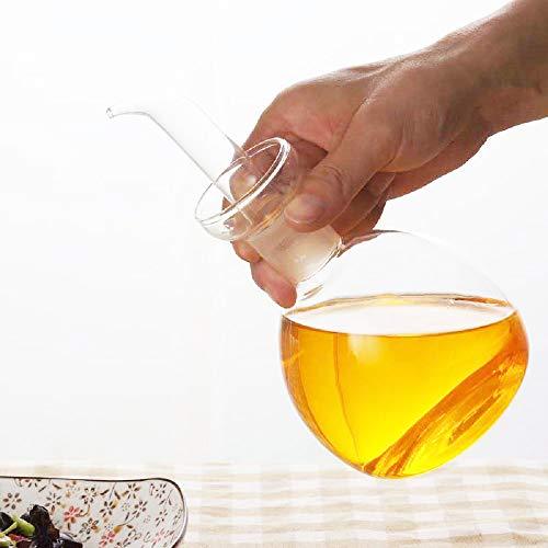 HAIZEEN 【540ml Ampolla Multiuso in Vetro, Decanter per Olio in Vetro e Ampolla per Cucina e Barbecue.