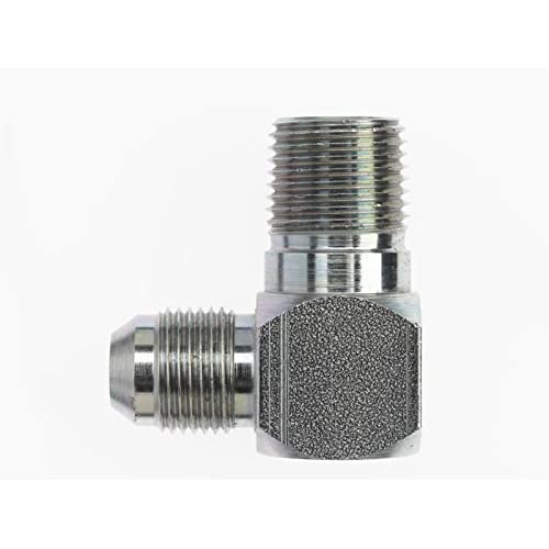 1//2 in Instrumentation x 1//2 in Male Pipe Brennan Stainless Steel 3 Units Instrumentation Straight Adapter