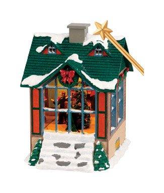MR.CHRISTMAS Vogelhaus mit Licht, Bewegung Spieluhr Weihnachten