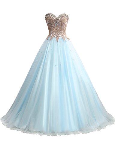 Erosebridal Gold Embroidery Ball Gown Quinceanera Dresses Women's Wedding Dresses