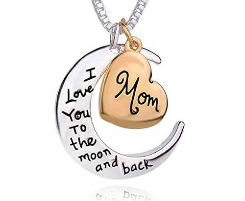 Deadly Diamonds I Love You to The Moon & Back - MOM hanger met ketting