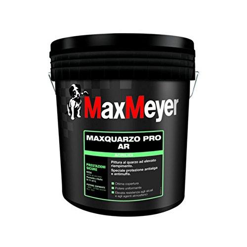 MAXQUARZO PRO AR pittura al quarzo ad alto riempimento bianco per esterno 1 lt. Max Meyer