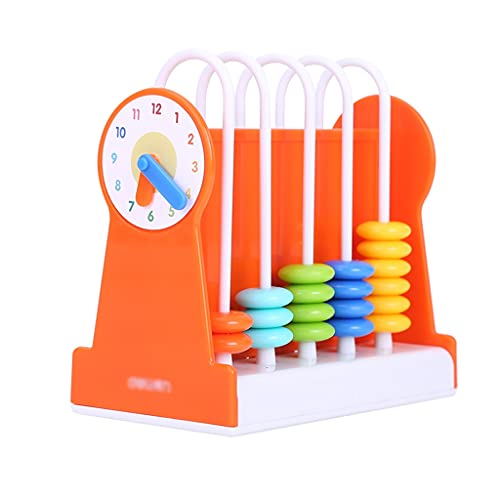 Calculadora Basica Sobremesa Ábaco Juguetes De Conteo Educativo De ABACUS Número De Matemáticas Creativo Herramienta De Cálculo Para Niños Calculadora de Oficina ( Color : Orange , tamaño : 5 rows )
