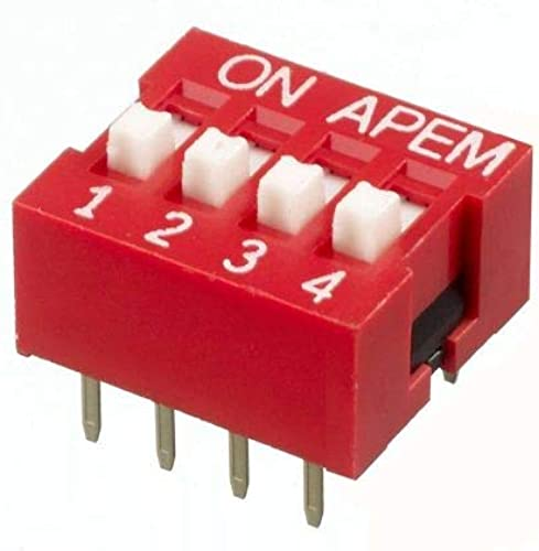 TPS 4 Way Dip Switch for Electronics Projects PCB Products Pack of 10pc