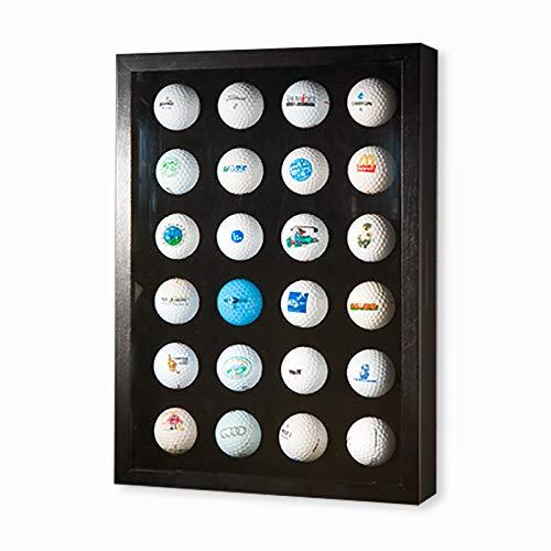 Golfball-Vitrine Braun für 24 Golfbälle