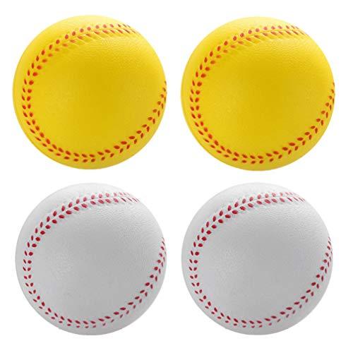 Tomaibaby Pelotas de Béisbol Suaves Espuma de Béisbol Bola Elástica de 9 Cm para Niños Adultos Interior Al Aire Libre