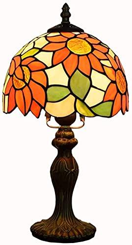 Tiffany Lámpara De Mesa De 8 Pulgadas Tabla De Luz De Girasol Handmake Spotted Glass Light Light