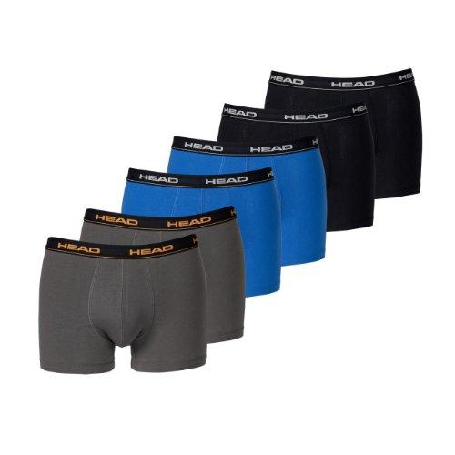 HEAD Men Boxershort 841001001 Basic Boxer 6er Pack, 2x Black 2x Blue/Black 2x Dark Shadow, M