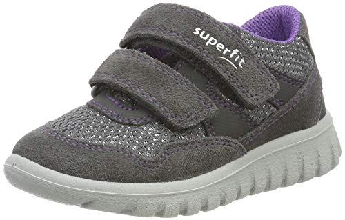 Superfit Baby Mädchen SPORT7 MINI-509191 Sneaker, Grau (Grau/Lila 21), 30 EU
