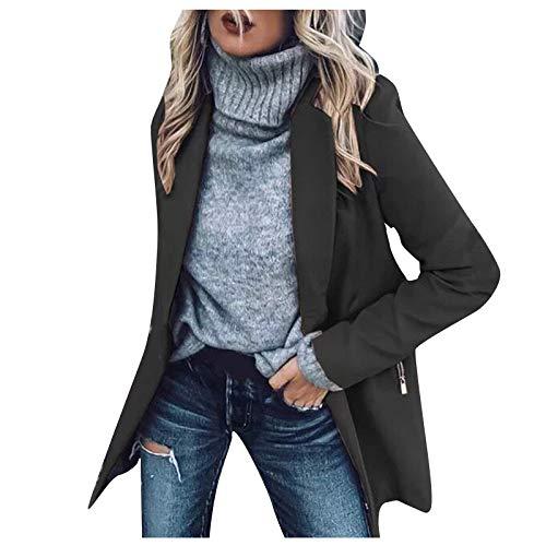 Abrigo de mujer chaqueta solapa parka traje de oficina chaqueta de bolsillo chaqueta abrigo lana Outwear abrigo abrigo abrigo abrigo abrigo abrigo caliente chal abrigo