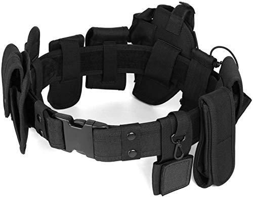 UpForceMX - Cintura tattica regolabile – 9 scomparti – Nylon militare D1680, kit di guardia della polizia di sicurezza, addestramento, cintura di sicurezza