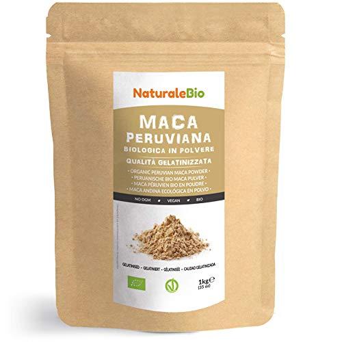 Maca Andina Ecológica en Polvo [ Gelatinizada ] 1 kg. Organic Maca Powder Gelatinized. 100{e9ab9cdb47eba798f53a3fbe3e573545ece759e3a8e1c06673b0d6da5cd828b4} Peruana, Bio y Pura, viene de raíz de Maca Organica. NaturaleBio