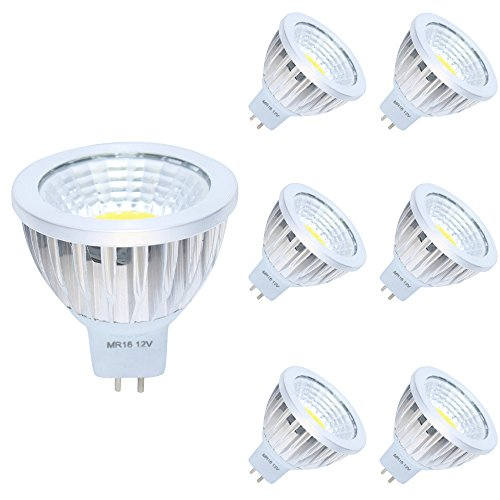 6er MR16 GU5,3 LED Lampe 3W Warmweiß 3000K DC 12V 210 Lumen, Ersetzt 20W Glühlampe 120° Abstrahwinkel