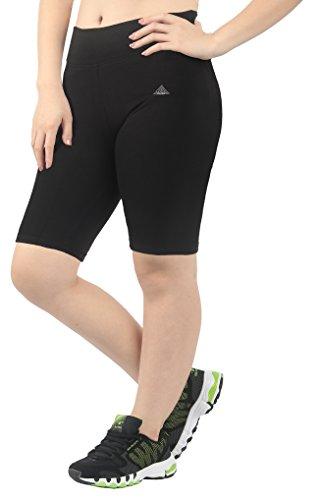 iloveSIA Women's Plus Size Mid Thigh Shorts Leggings Black US Size 3X Plus