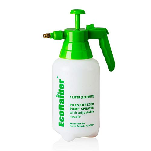 EcoRaider Pressurized Piston Pump Sprayer 2 Pints (1 Liter)