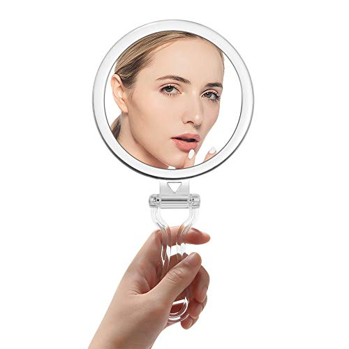 Compact Folding Hand Held Mirror/Tabletop Makeup Mirror with Two Sides of 15X Magnification  Connecticut