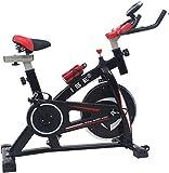 ISE Indoor Cycle Ergometer Heimtrainer mit LCD Anzeige,Armauflage,Puls&gepolsterte,8kg Schwungrad,Fitnessbike Speedbike mit Riemenantrieb-Fahrrad Ergometer bis 135Kg,170cm SY-7802