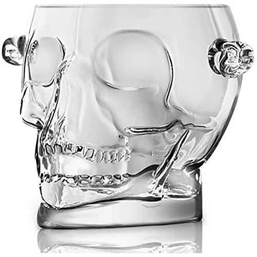 WLKQ Cranio Creativo in Cristallo Acrilico - Portaghiaccio - Secchiello per Il Ghiaccio - Secchiello Champagne - Dispositivo di Raffreddamento per Vino - con 2 Maniglie -Trasparente - 1.5L