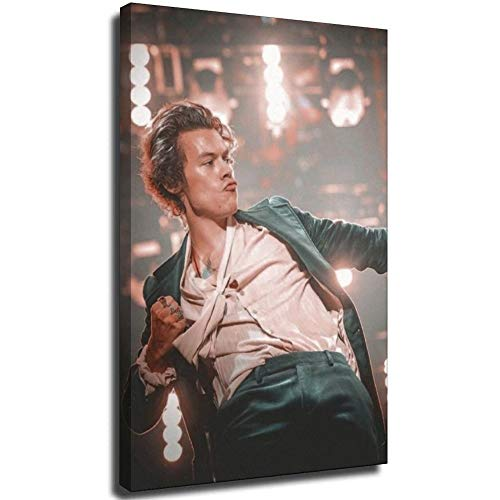 Harry Styles Picture Photo on Canvas Wall Art for Bedroom Home Decorations 8 × 12 pollici (20 × 30 cm) UnFrame