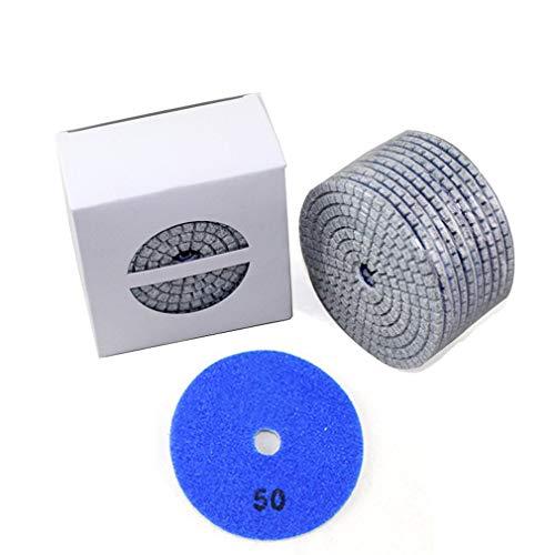 10 piezas de almohadillas de pulido de diamante Kit 4 '100 mm húmedo/seco para granito piedra hormigón mármol pulido uso discos de molienda conjunto