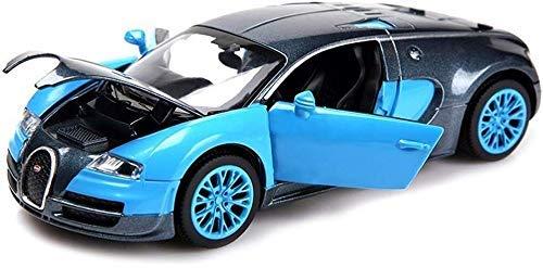 XYSQWZ Modelo De Coche Bugatti Veyron 1:32 Aleación De Fundición Analógica Sonido Y Luz Tire hacia Atrás Modelo De Coche De Juguete 13.6x6x4cm Modelo De Automóvil (Color: A) (Color: C)