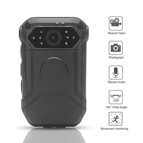 HD 1296P Police Camera, Moocor Wide Angle Body Worn Cameras with 32G Memory Card, Security Motion...