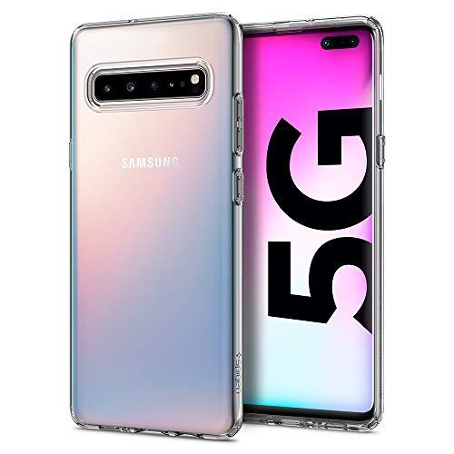 Spigen Liquid Crystal Hülle Kompatibel mit Samsung Galaxy S10 5G -Crystal Clear