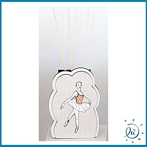 Argenti Preziosi Italia   Bomboniere e idee regalo on line PROFUMATORE per Ambiente DIFFUSORE di ODORI con Bastoncini in Legno Modello Ballerina Misura 7x10 cm