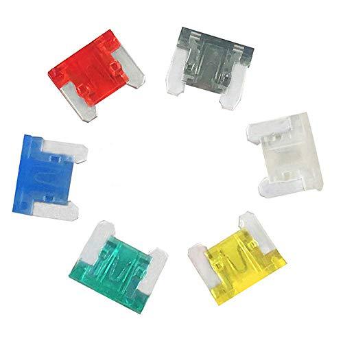 (60 Pcs) MCIGICM Low Profile Mini Fuse, 7A 10A 15A 20A 25A 30A ATM-LP Low Profile Fuse Assortment, 6 Values x 10 Pack