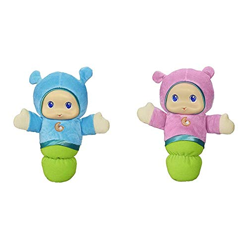 Playskool Lullaby Gloworm Toy with 6 Lullaby Tunes, Blue (Amazon Exclusive) & Pink Glo Worm Stuffed Lullaby Toy for Babies with Soothing Melodies (Amazon Exclusive)