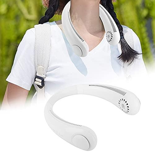 SALALIS Ventilador portátil, Ventilador de Manos Libres para Ahorrar energía Ideal para enfriamiento Individual Material cómodo para Proteger el Cuello para el hogar y la Oficina