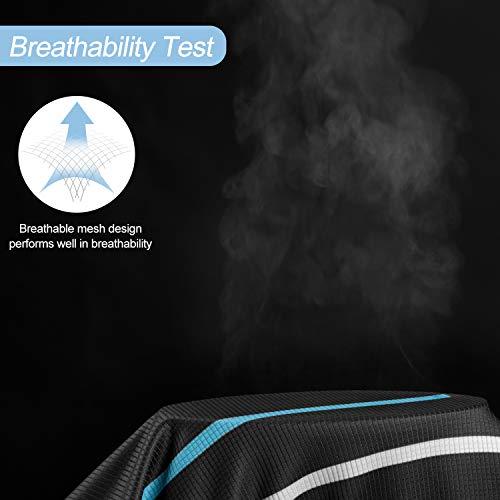 LAMEDA Kurzarm Radtrikot Fahrradtrikot Herren T-Shirt Jersey Radsport Funktionsshirt Elastische Atmungsaktive Schnell Trocknen Stoff(Blau S) - 7