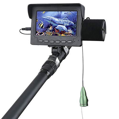 Cámara de video de pesca subacuática, Buscador de peces Monitor de 4.3 pulgadas, 6 PCS LED IR Cámara de visión nocturna a prueba de agua para Lake Sea Boat Kayak Pesca en hielo con cable de 15M