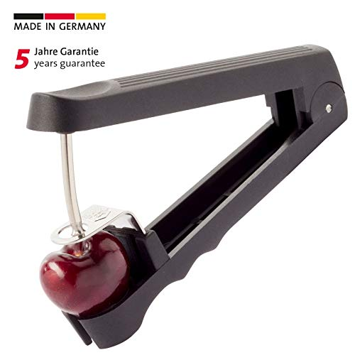 Westmark Westmark Cherry Pitter/Stoner - Gets Rid Of The Pit And The Stem At The Same Time, Black