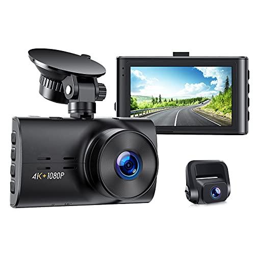 Dash Cam Native 4K&1080P Front and Rear Car Camera Car...