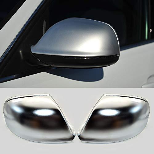 Vernier Calipers para Audi Q5 8R Q7 4L SQ5 Chrome Side Mirror Caps 2007 2011 2011 2012 2013 2014 2015 2016 Silver Matte (Color : Without Lane Assist)