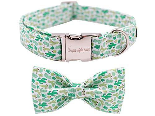Unique style paws Hundehalsband mit Schleife, Fliege Hundehalsband Verstellbare Halsbänder mit Softy Fliege für kleine mittelgroße Groß und Katzen