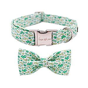 Unique style paws Dog Collar with Bow, Bowtie Dog Collar Adjustable Collars for Small Medium Large Dogs and Cats