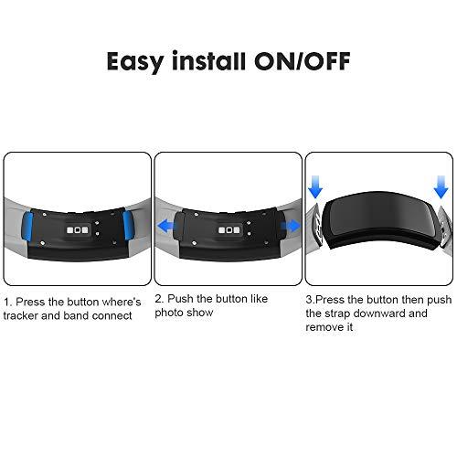NotoCity Compatible con Correa Gear Fit 2 / Gear Fit 2 Pro Silicona Pulsera de Repuesto