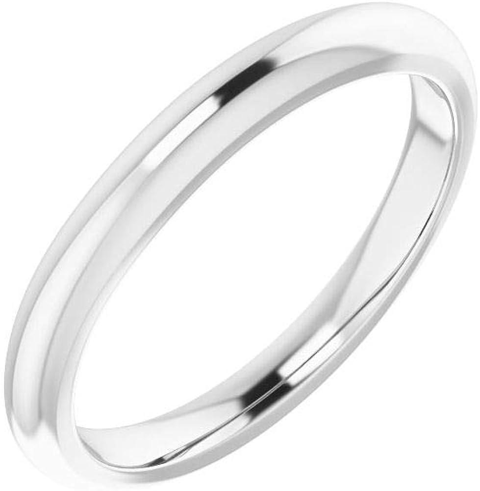 Solid Platinum Curved Notched Wedding Band for 3mm Asscher Ring Guard Enhancer - Size 7